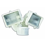 Designer's Edge 270-Degree Diecast Metal Twin Head Motion Activated Security Flood Light with Bulb, White (L6008WH)