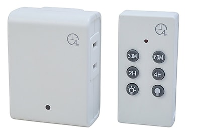 Woods Indoor Wireless Remote Control with Countdown, White (59781)