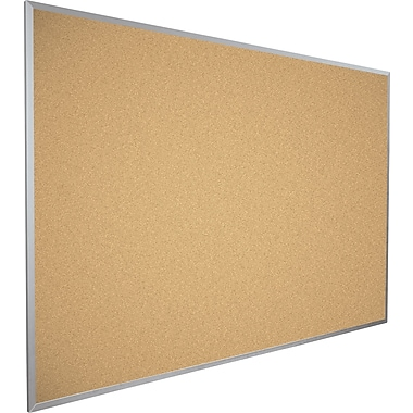 bestrite valutak natural cork bulletin board aluminum trim 4 x 4