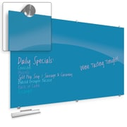 """Best-Rite Visionary Colors Magnetic Glass Dry Erase Whiteboard 47.24"""" x 94.49"""" Blue (83846-Blue)"""