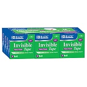 """Bazic Invisible Tape Refill, 3/4"""" x 27.8 yds, 12 Rolls/Pack (BAZ906)"""