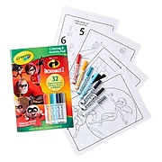 Crayola® Incredibles 2,  Soft Cover, Coloring & Activity Pad w/Markers, Pack of 3 (BIN40355-3)