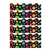 Carson Dellosa Education Big Rainbow Dots Scalloped Border, 39 Feet/Pack, 6 Packs (CD-1255-6)