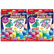 Cra-Z-Art Washable Finger Paint Set, 8 Colors Per Set, 2 Sets (CZA124064-2)
