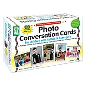 Photo Conversation Cards for Children with Autism and Asperger's for Grades K-5, (KE-845035)