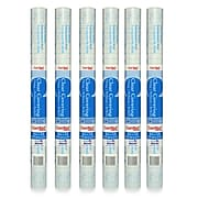 """Con-Tact 18"""" x 9' Vinyl Adhesive, Glossy, Clear, 6 Rolls (KIT09FC9D73-6)"""
