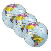 """Learning Resources Inflatable Globe, 12"""", Pack of 3, (LER2432-3)"""