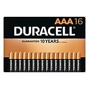 Duracell Coppertop AAA Alkaline Batteries, 16/Pack (MN24B16)