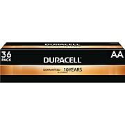 Duracell Coppertop AA Alkaline Batteries, 36/Pack (MN15P36)