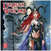 """2018 Sellers Publishing, Inc. 12"""" x 12"""" Dragon Witches: The Art Of Nene Thomas Wall Calendar (CA0127)"""