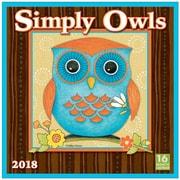 "2018 Sellers Publishing, Inc. 12"" x 12"" Simply Owls Wall Calendar (CA0158)"
