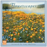 """2018 Sellers Publishing, Inc. 12"""" x 12"""" Flowerscapes - Artwork By Amy Melious Wall Calendar (CA0167)"""