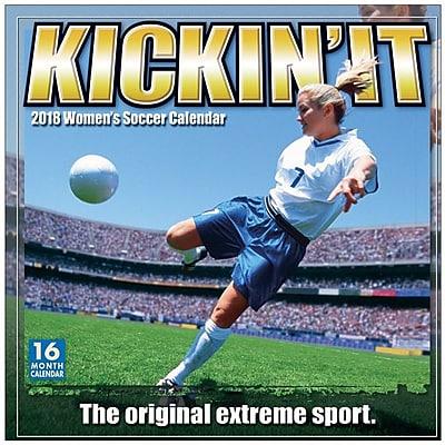 """""2018 Sellers Publishing, Inc. 12"""""""" x 12"""""""" Kickin' It: Women's Soccer Wall Calendar (CA0142)"""""" 24154034"