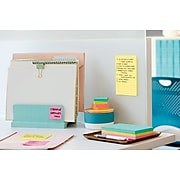 """Post-it® Super Sticky Notes, 4"""" x 6"""" Canary Yellow, Lined, 90 Sheets/Pad, 5 Pads/Pack (660-5SSCY)"""
