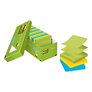 """Post-it® Pop-up Notes, 3"""" x 3"""" Jaipur Collection, 100 Sheets/Pad, 18 Pads/Cabinet Pack (R330-18AUCP)"""