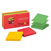 """Post-it® Super Sticky Pop-up Notes, 3"""" x 3"""", Marrakesh Collection, 90 Sheets/Pad, 10 Pads/Pack (R330-10SSAN)"""