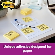 """Post-it® Greener Pop-Up Notes, 3"""" x 3"""", Canary Yellow, Recycled, 12 Pads (R330RP-12YW)"""