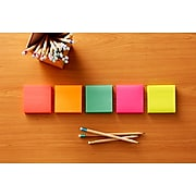 """Post-it® Notes, 3"""" x 3"""" Cape Town Collection, 100 Sheets/Pad, 18 Pads/Cabinet Pack (654-18CTCP)"""