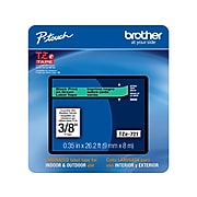 """Brother P-touch TZe-721 Label Maker Tape, 0.35""""W, Green/Black"""