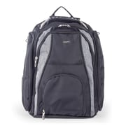 Bugatti Backpack in Polyester, Grey/Black (BKP113-BLACK)
