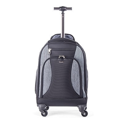 Bugatti Backpack on Wheels, Grey/Black (BKPW2622-BLACK)