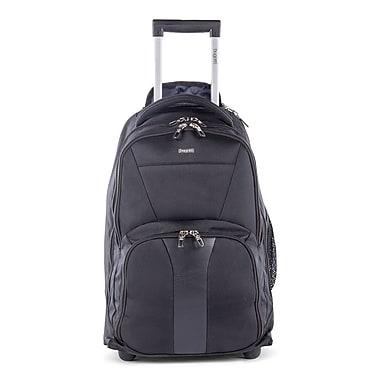 Bugatti Polyester Backpack on Wheels, Black (BKPW2621-BLACK)
