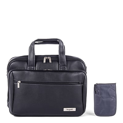 Bugatti Executive Laptop Briefcase Synthetic Leather, Black (EXB507S-Black)