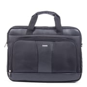 Bugatti Lightweight Executive Briefcase, Black (EXB526-GREY)