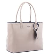 Bugatti Ladies Tote Bag, Beige/Blue (LBG705-BLUE)