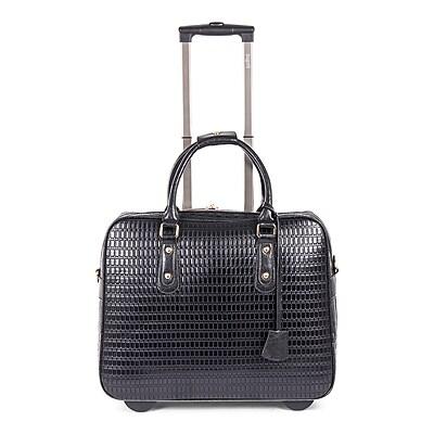 Bugatti Ladies Business Bag on Wheels, Black (LBZW1702-BLACK)