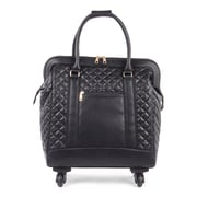 Bugatti Ladies Tote Bag on Wheels, Black (LBZW1703-BLACK)