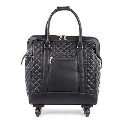 Bugatti Ladies Tote Bag on Wheels, Black (LBZW1703-BLACK)