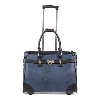 Bugatti Ladies Bag on Wheels, Blue/Black (LBZW1704-BLACK)