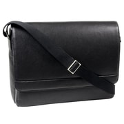 Bugatti Unisex Synthetic Leather Messenger Bag, Black (MSG49544401)