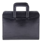 "Bugatti Leather 1.5"" Briefcase Padfolio, Black (RGB1101-Black)"