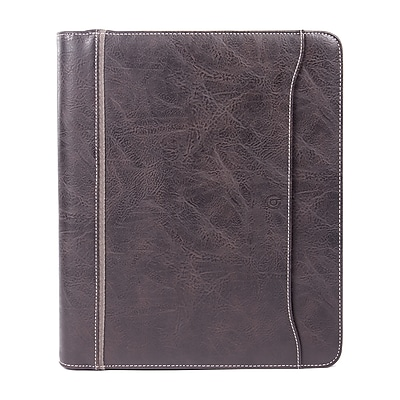 Bugatti Valentino Ring Binder Synthetic Leather, Brown (RGB1109-BROWN)
