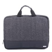 "Bugatti 15.6"" Laptop Sleeve in Polyester, Grey/Black (TAC1422-BLACK)"