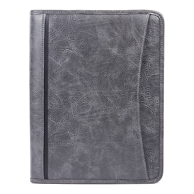Bugatti Valentino Ring Binder Synthetic Leather, gray (WRC1519-GREY)