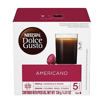 Nescafe® Dolce Gusto® Americano House Blend Coffee, 16 Capsules/Box (NES27368)