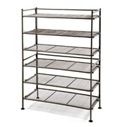 Seville Classics 3-Tier Iron Mesh Utility Shoe Rack, 2-Pack, Satin Bronze (WEBK262)