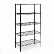 Seville Classics 5-Tier Black Epoxy Steel Wire Shelving(SHE14309B)