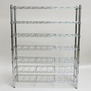 "Seville Classics UltraZinc 168 Bottle 7-Shelf Wine Rack 14""D x 36""W x 64""H (SHE16473ZB)"