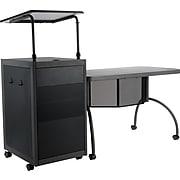 "Oklahoma Sound Teacher's WorkPod Desk and Lectern Kit, 24""W, Charcoal Slate and Black (TWP)"