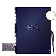 "Rocketbook Core Smart Notebook, 8.5"" x 11"", Dot-Grid Ruled, 16 Sheets, Blue  (EVR-L-RC-CDF-FR)"