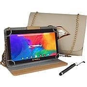 "Linsay 7"" Tablet with Stylus, Case, and Handbag, 2GB RAM, 32GB, Android, Cream (F7UHDCREAMKISS)"