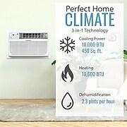Keystone 10,000 BTU 230V Through-the-Wall Air Conditioner with 10,600 BTU Supplemental Heat Capability