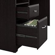 Bush Furniture Cabot 60W L Shaped Computer Desk with Drawers, Espresso Oak (CAB044EPO)