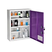 AdirMed Large Steel Medical Cabinet with Dual Key Lock, 1.16 Cu. Ft. (999-04-PUR)
