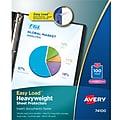 """Avery Easy Load Heavyweight Sheet Protectors, 8.5"""" x 11"""",Diamond Clear, Acid-Free, 100/Box (74100)"""