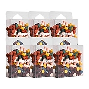 Poppin Push Pins, Assorted Colors, 100/Box, 6 Boxes/Kit (108678)